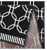 Vloerkleed Bastille - Kring zwart/wit