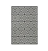 Zala living Vloerkleed Bastille - Square zwart/wit