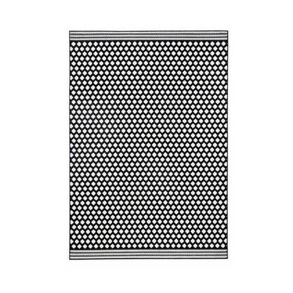Vloerkleed Bastille - Stip zwart/wit