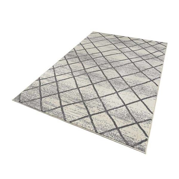 Vloerkleed Bastille stripe Creme/Grijs