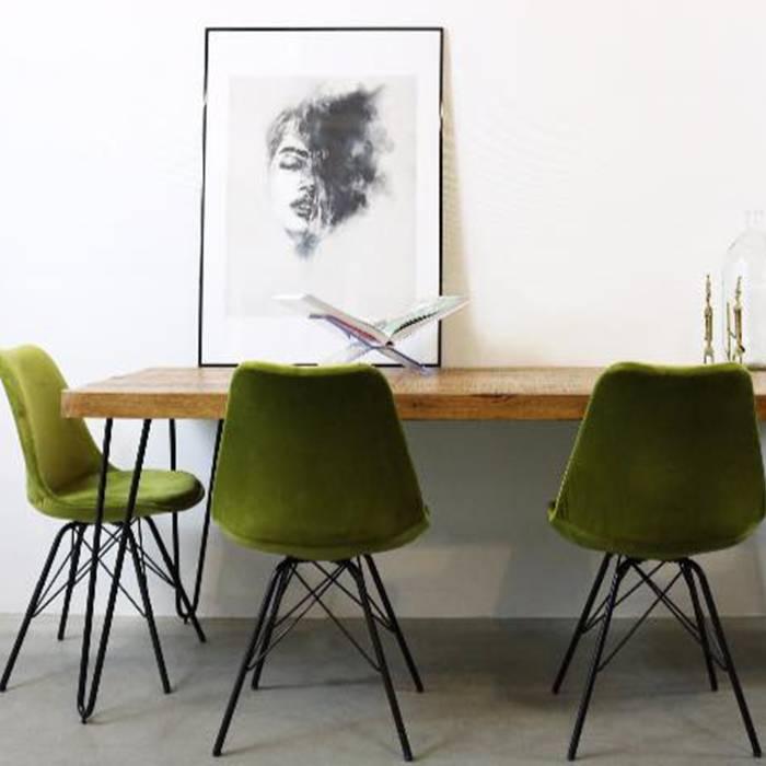 Kick collection stoel velvet groen de woonwinkelier for Groene stoel