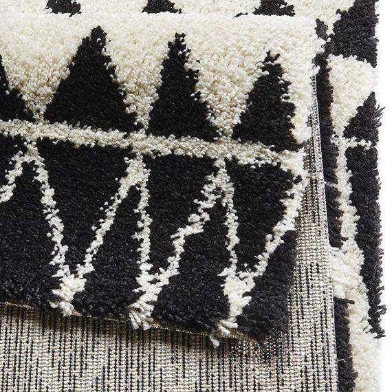 Mint Rugs Hoogpolig vloerkleed Allure - Inspire zwart
