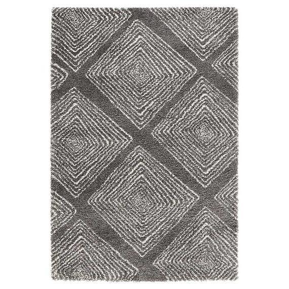 Mint Rugs Hoogpolig vloerkleed Allure - Wire grijs/creme