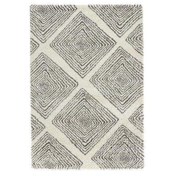 Mint Rugs Hoogpolig vloerkleed Allure - Wire creme/grijs