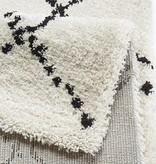 Mint Rugs Hoogpolig vloerkleed Allure - Stripe creme / zwart