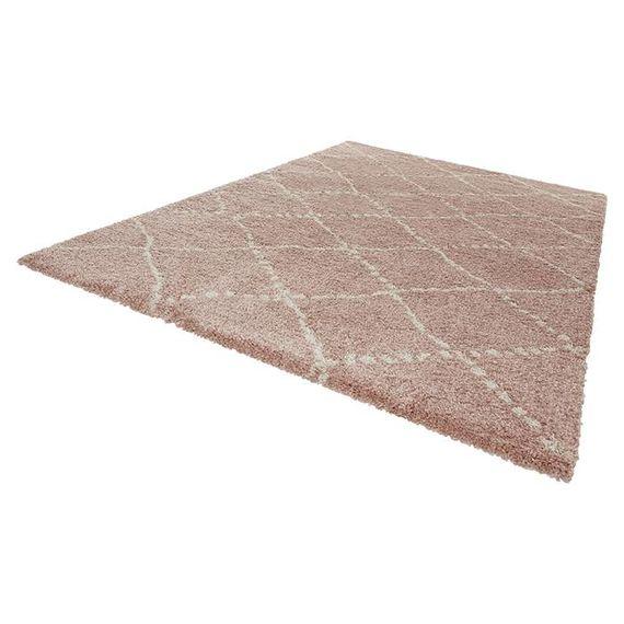 Mint Rugs Hoogpolig vloerkleed Allure - Stripe roze/creme