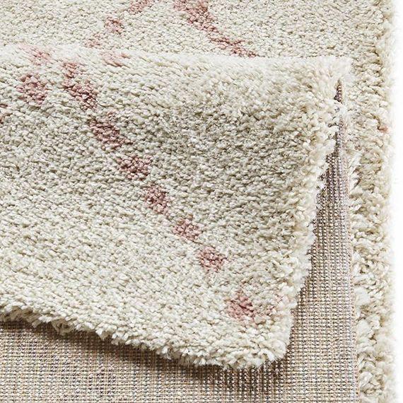 Mint Rugs Hoogpolig vloerkleed Allure - Stripe creme/roze
