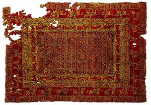 Het tapijt van de oudste leeftijd Pazyryk