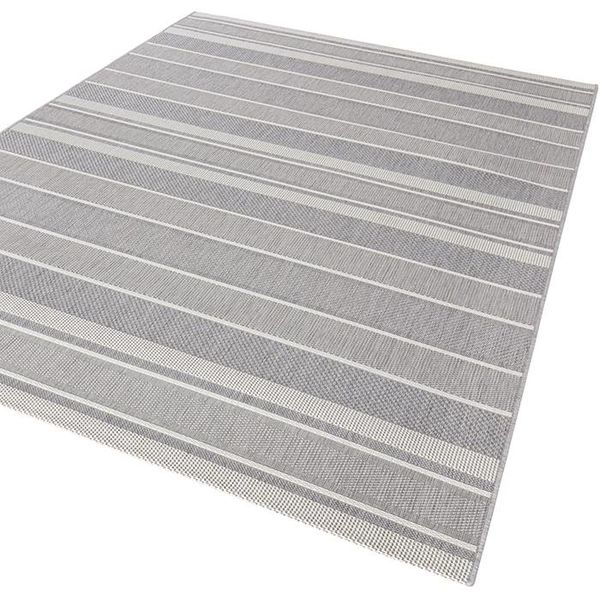 Bougari Buitenkleed Strap - Zilver/Grijs