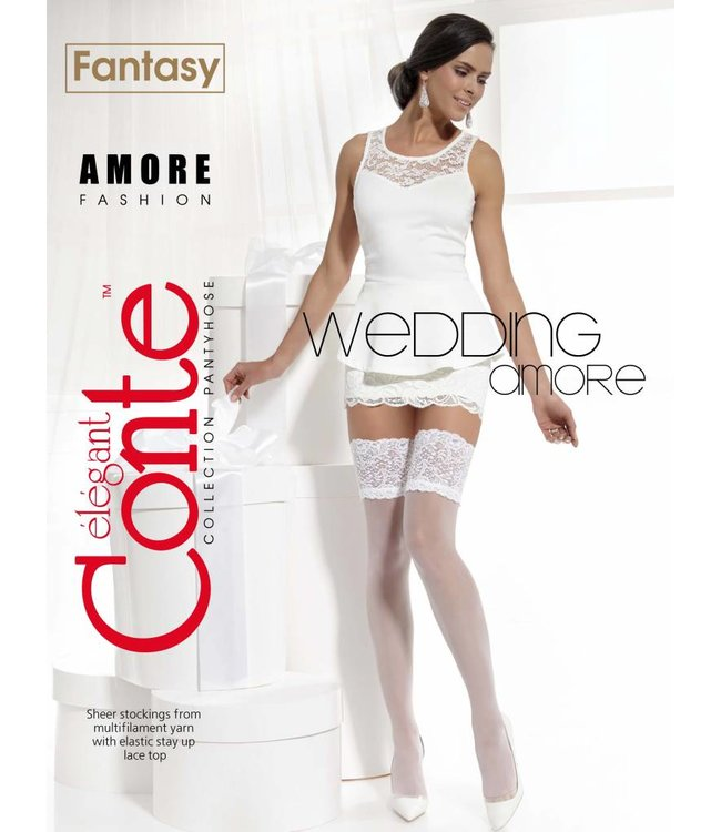 Conte Amore 20 den bridal stockings