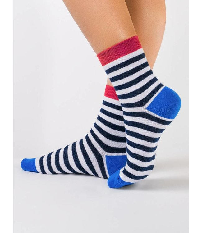 Conte Classic ladies' socks with zebra stripes