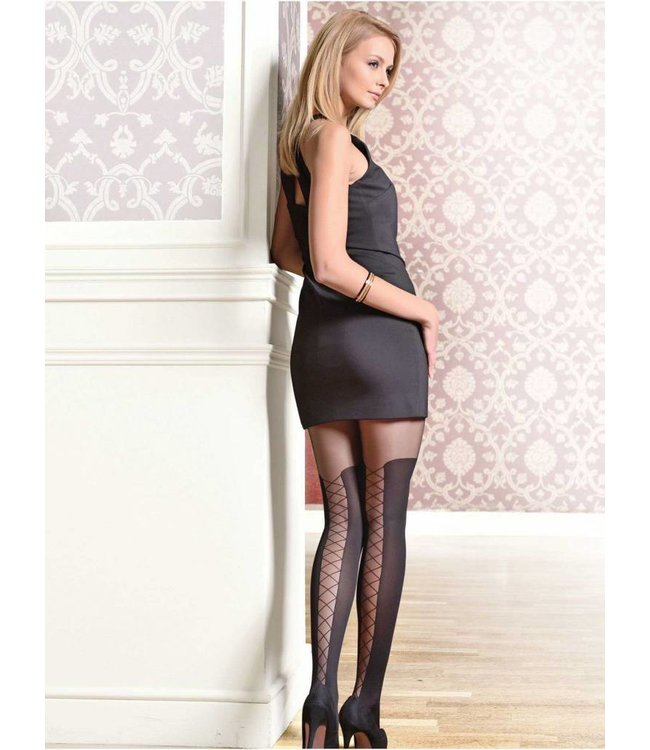 Conte Poema 50 den tights with lace-up effect