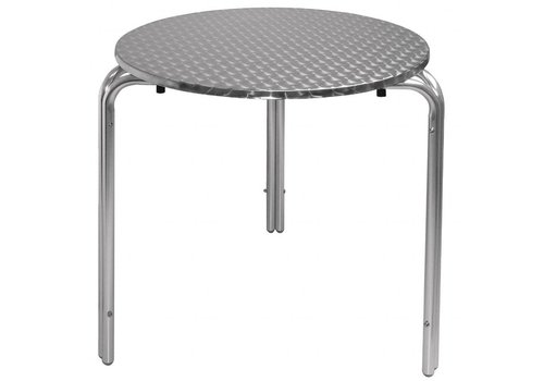 Tafel Prullenbak Rvs : Bolero ronde rvs tafel h Ø cm horeca deluxe