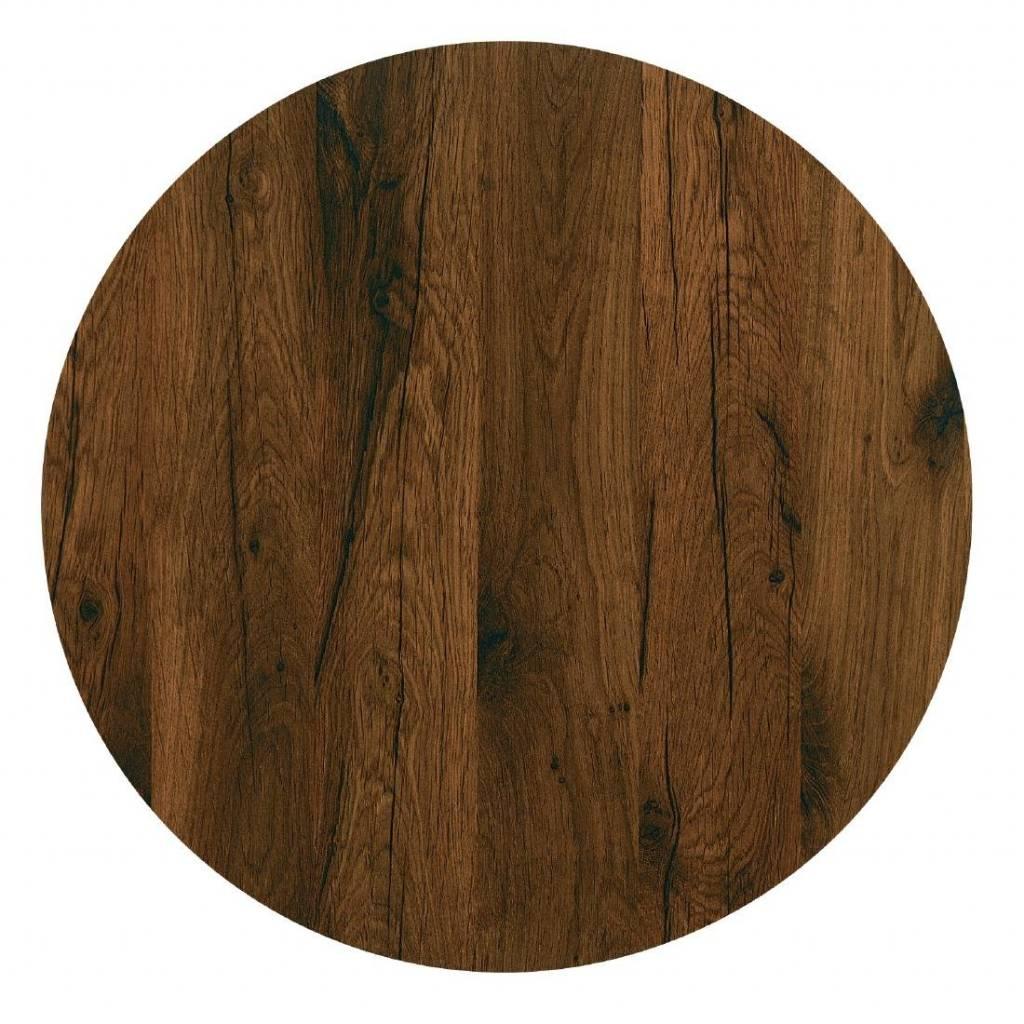 Ronde Tafelbladen Horeca.Werzalit Ronde Tafelblad Antique Oak 80 O Cm Horeca Deluxe