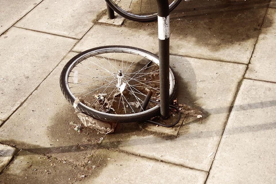 geklautes Fahrrad