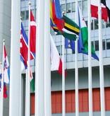 Polyester vlaggenmast met diefstalbeveiliging (ISS)