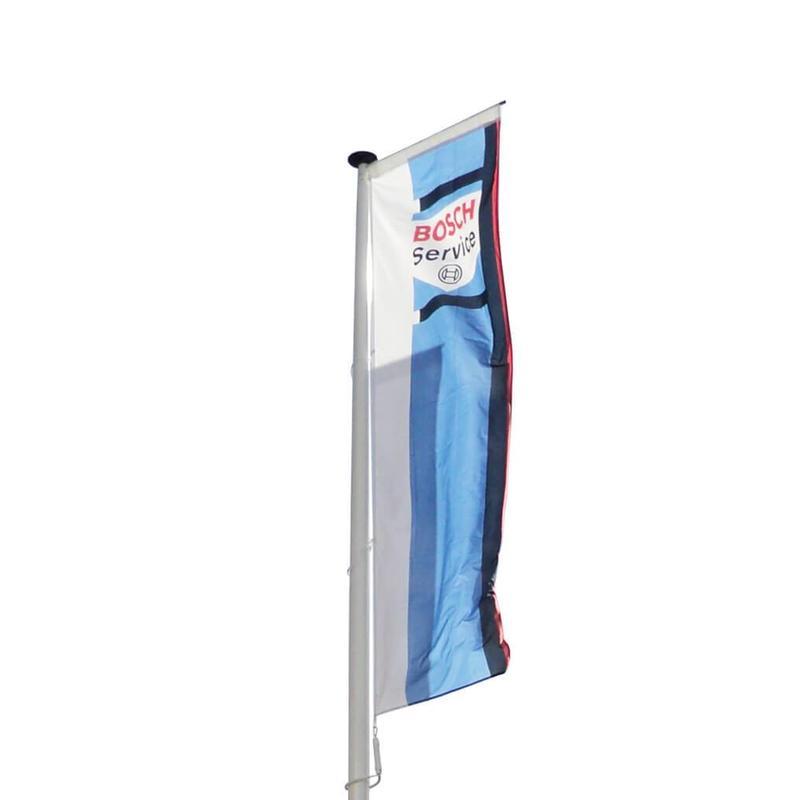 Polyester reclamemast met banierhouder, 7 meter