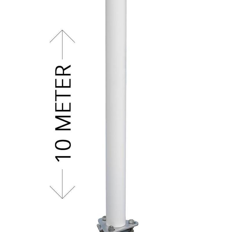 Polyester reclamemast met banierhouder, 10 meter