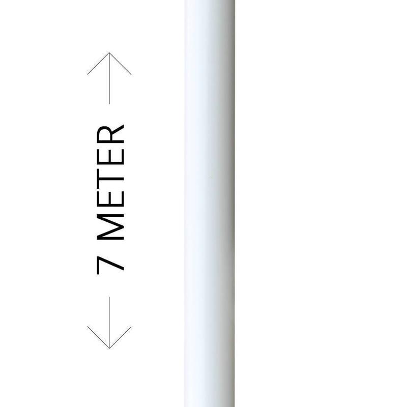 Voordelige aluminium vlaggenmast met banierhouder, 7 meter