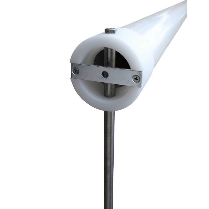 Aluminium reclamemast met banierhouder, 7 meter