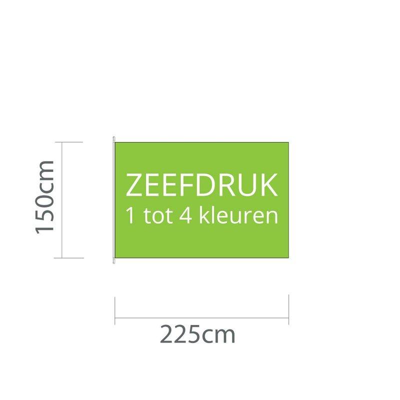 Mastvlag zeefdruk 225 cm x 150 cm