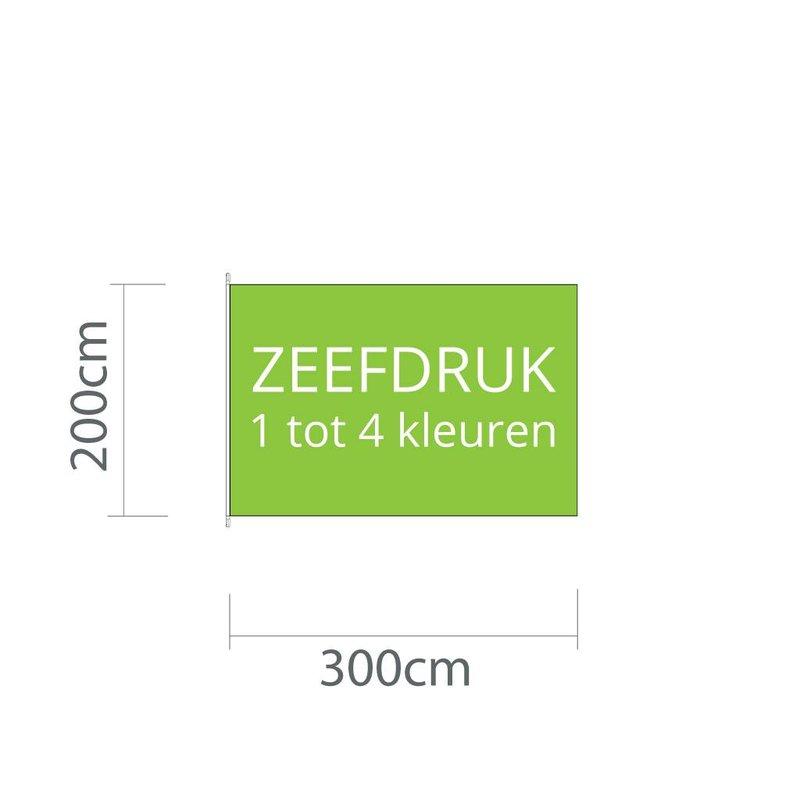 Mastvlag zeefdruk 300 cm x 200 cm