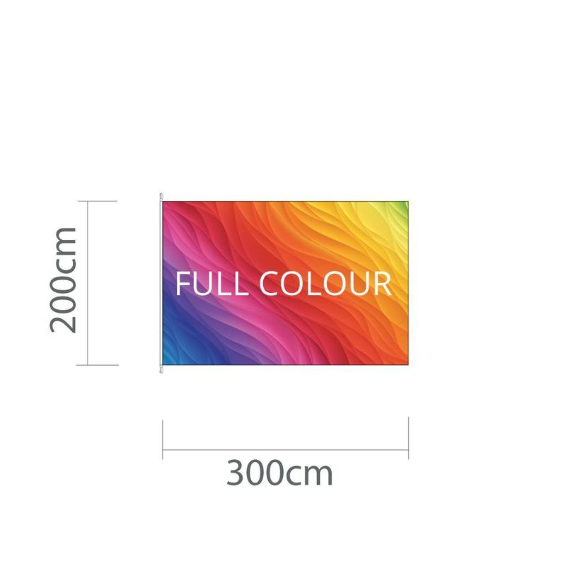 Mastvlag 300 cm x 200 cm