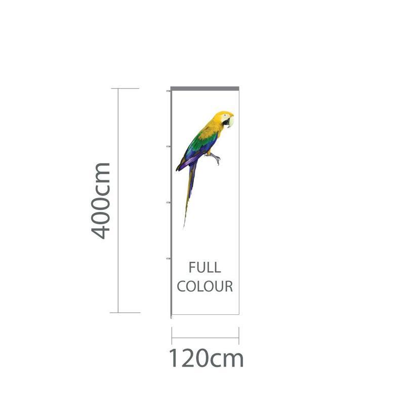 Baniervlag, full colour, 120x400cm