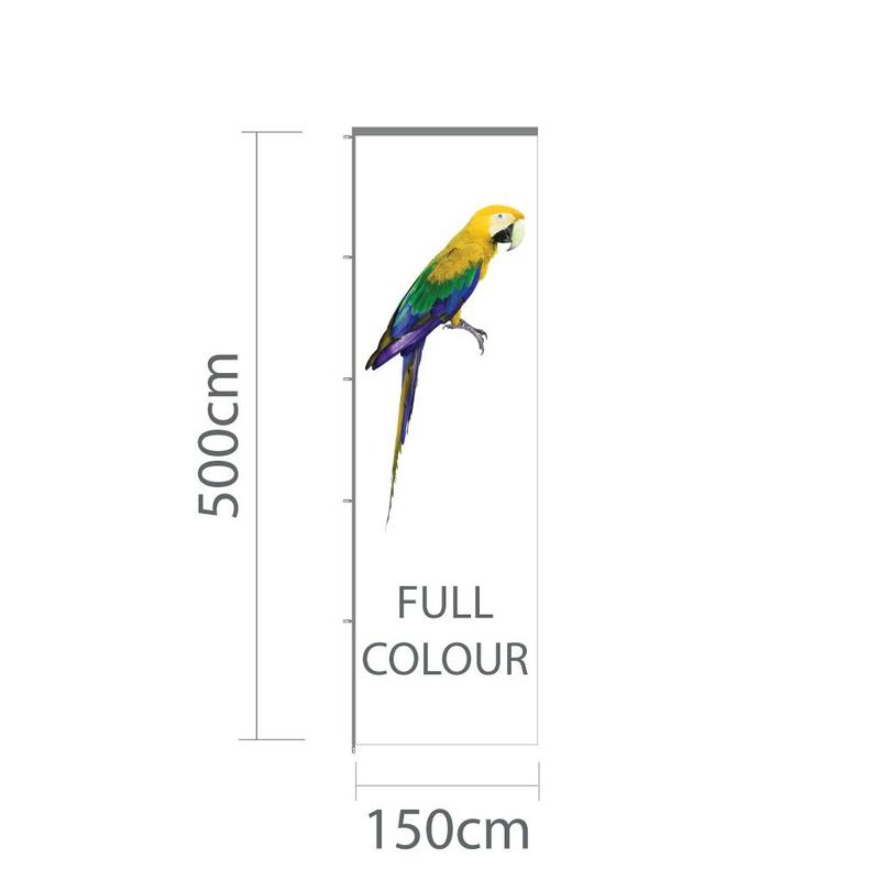 Baniervlag, full colour, 150x500cm