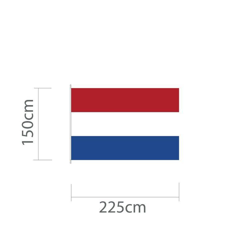 Nederlandse mastvlag 225 x 150 cm voor mast van 6 of 7 meter