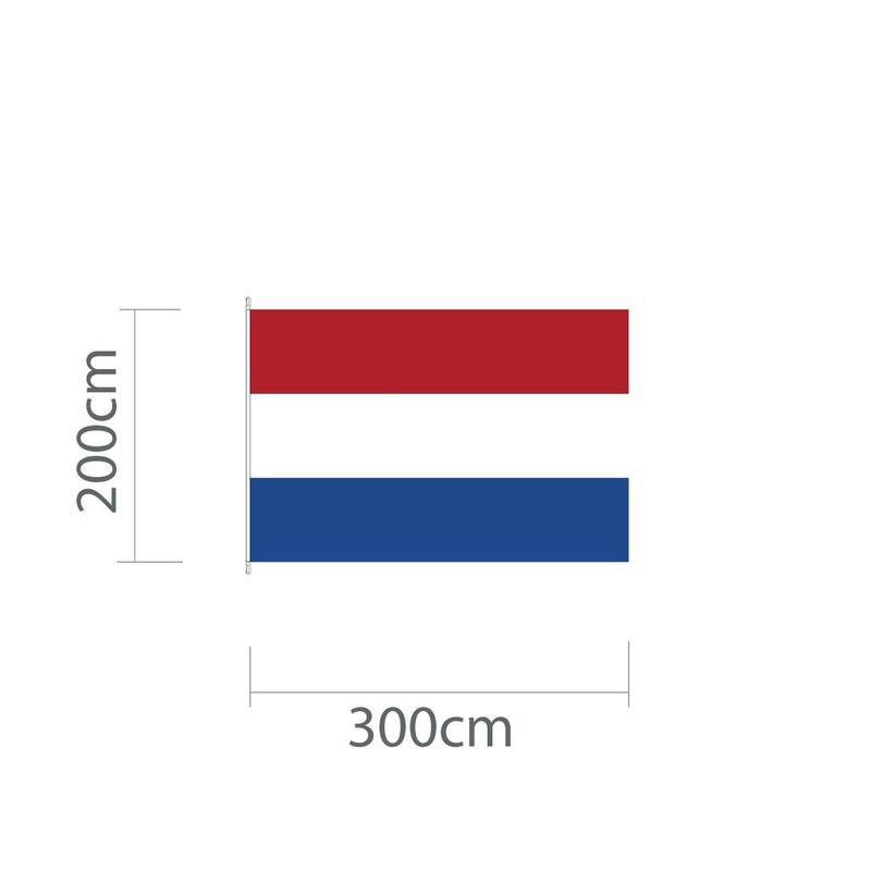 Nederlandse mastvlag 300 x 200 cm voor mast van 7 of 8 meter
