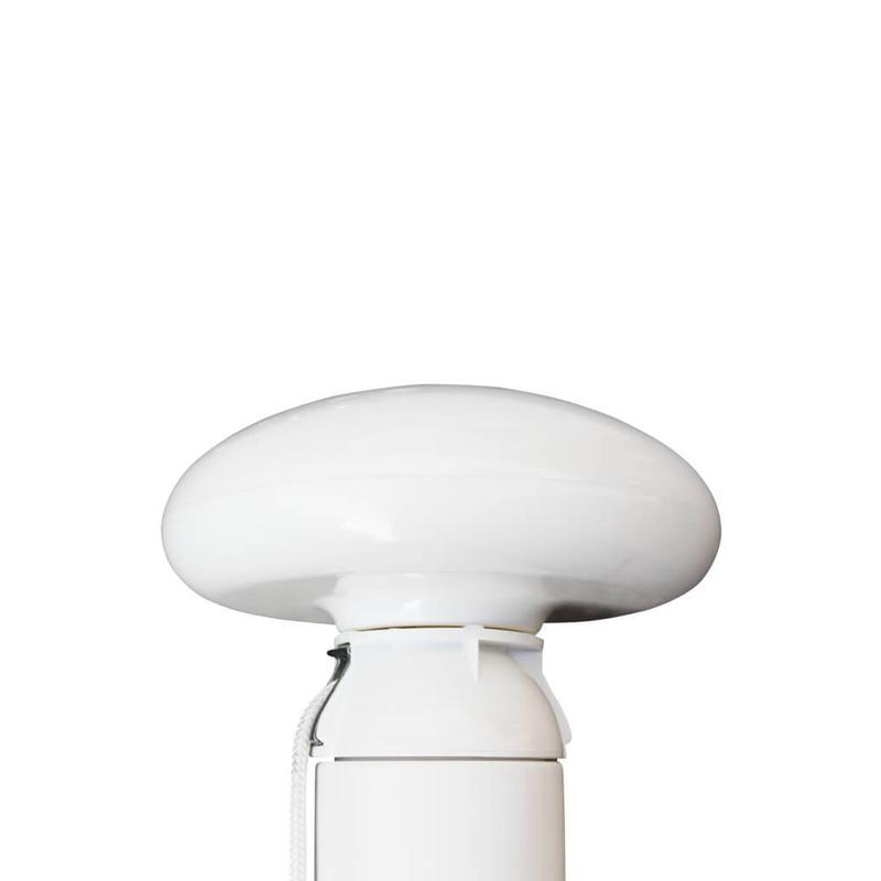 Platte mastknop, wit