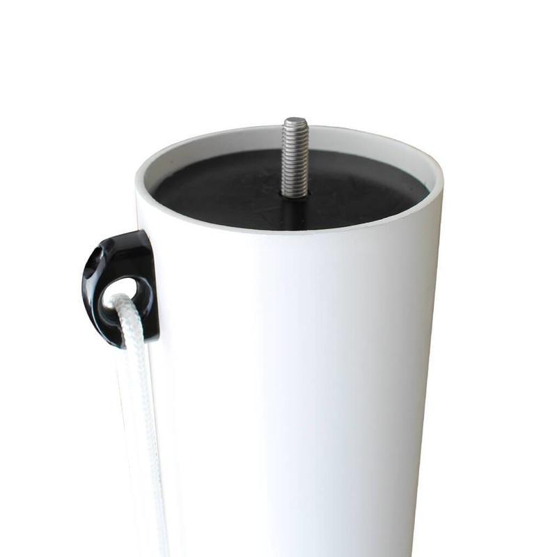 Tulpvormige mastknop, kunststof, zwart M10