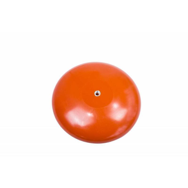 Platte mastknop, kunststof, oranje M8