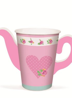 Jollyjoy GIRLS TEA TEAPOT PAPER CUPS