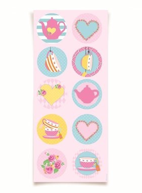 Jollyjoy GIRLS TEA ROUND STICKERS