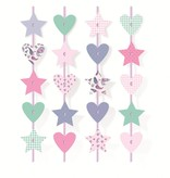 Jollyjoy DREAM PARTY CURTAIN W/ STARS AND HEARTS