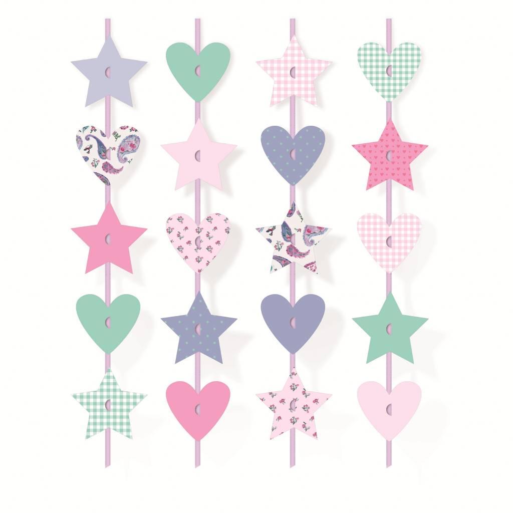 jollyjoy decoratief gordijn sterren en hartjes droomfeest 6 stuks