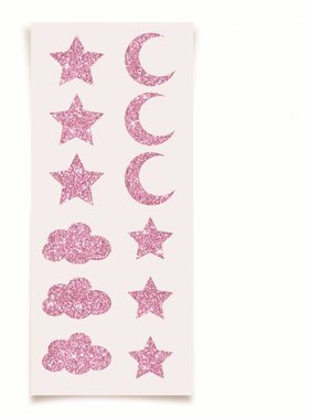 Jollyjoy DREAM PARTY PINK GLITTER STICKERS