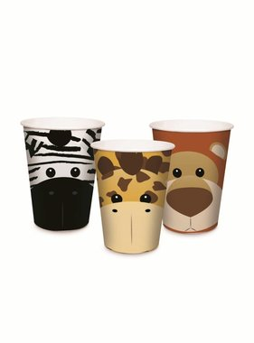 Jollyjoy SAFARI PAPER CUPS ASSORTED