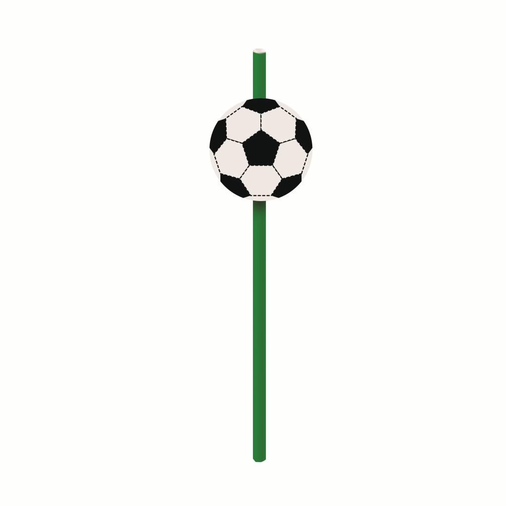 Jollyjoy FOOTBALL PAPER STRAWS W/ EMBELLISHMENTS