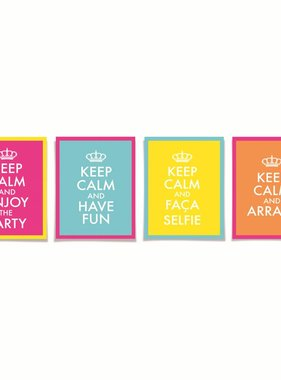 Jollyjoy DECORATIEVE KAART KEEP CALM