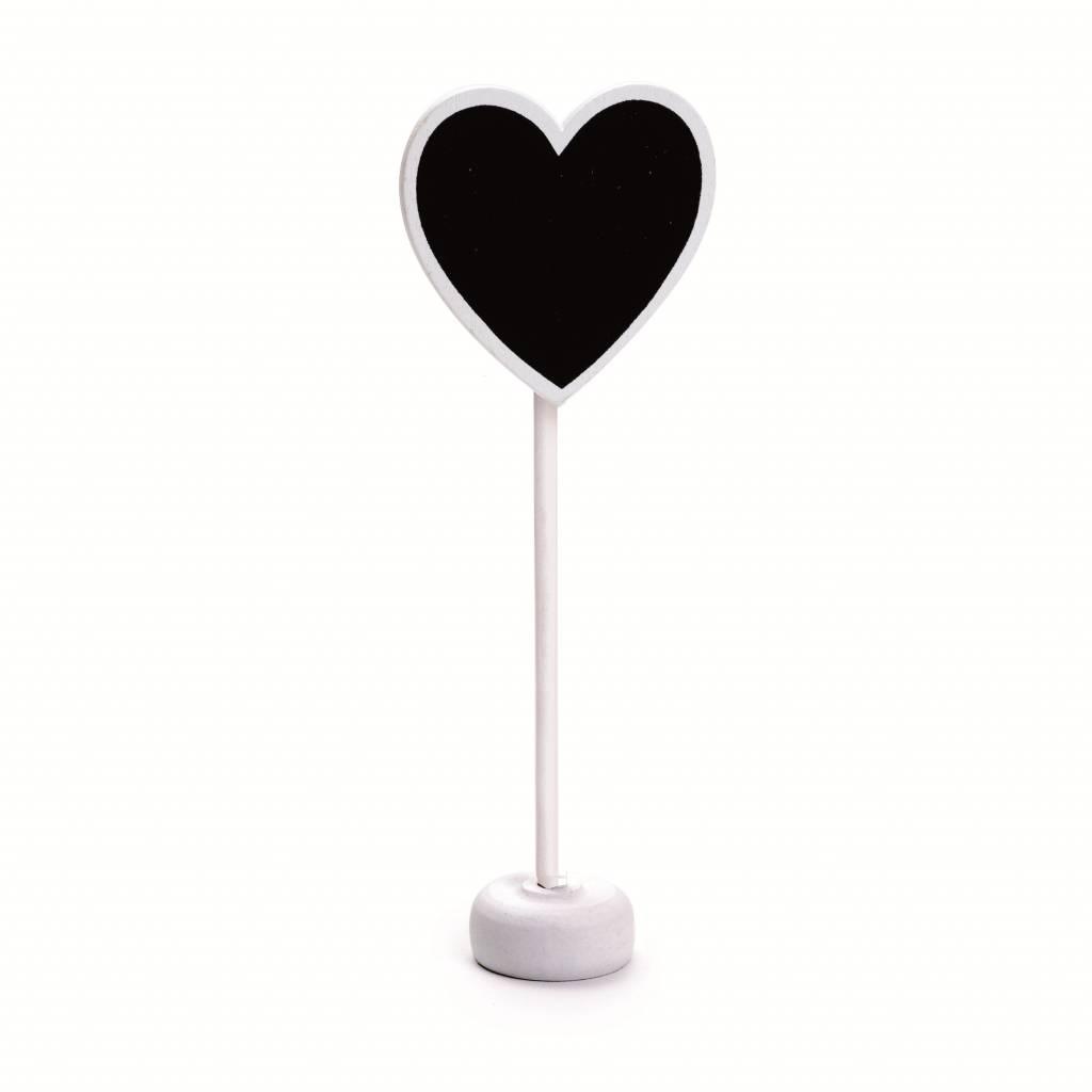 Jollyjoy WHITE HEART CHALKBOARD W/ STAND