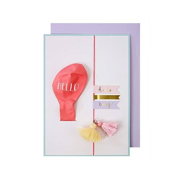 Meri Meri HELLO PINK BALLOON CARD