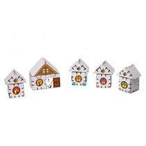 Kartonnen bouwdozen, Dorpshuisjes