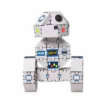 Kartonnen bouwdozen, witte robot - Yohobot