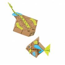 Kartonnen bouwdozen, zeevissen