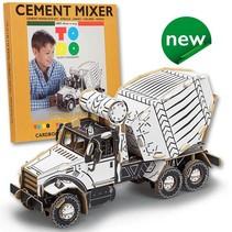 Kartonnen betonmixer vrachtwagen