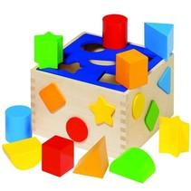 Houten sorteerbox 10 delig