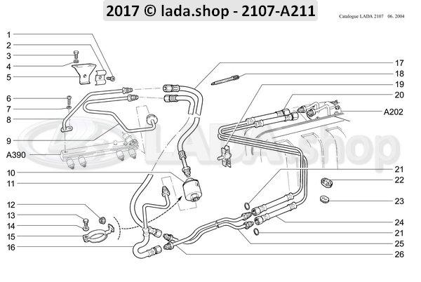 LADA 2112-1117010-82, Fuel filter